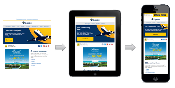 Expedia also use responsive email